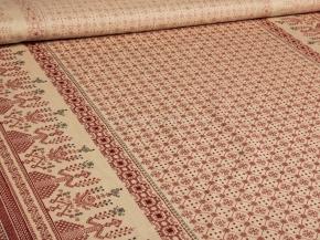 Ткань бельевая арт 2-21 п/л кислованный рис Орнамент макошь, 150см