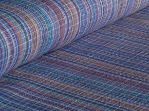 Ткань бельевая арт 7-16 п/лен пестроткань с синим, ширина 150см