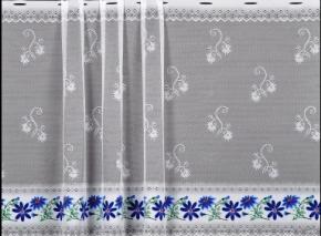 0.85м Е68П/85 08С6269-Г50 ПОЛОТНО ГАРДИННОЕ цвн (синий цветок)