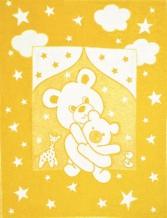 Одеяло хлопковое 100*140 жаккард 7/6 1/6, 10/6, 14/6 цвет желтый