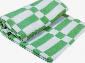 Одеяло байковое в/уп.140*205  клетка цв. зеленый