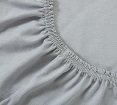 Простыня трикотажная на резинке 140*200*20 цвет серый