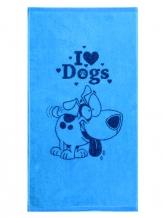 "6с103.412ж1 ""I love dogs"" Полотенце махровое 50х90см"
