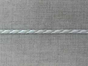 5мм. 05С2272-Г50 ШНУР ОТДЕЛОЧНЫЙ лён с белым 5мм (рул.100м)