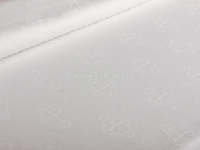 Полулен бельевой отб. жаккард арт. 22-20 рис. Крестики, 150см