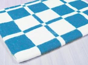 """Одеяло байковое 100*118 """"Клетка"""" цв. синий"""