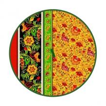 """Полотенце вафельное """"Хохлома"""" красный круглое"""
