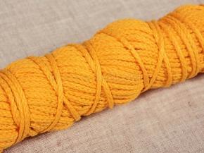 ШХ8-003-4 Шнур, D-3мм, х/б 100%, желтый