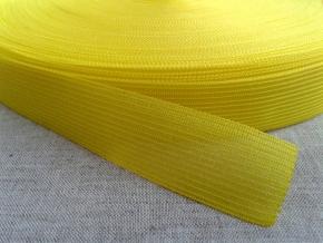 Тесьма вязан.окантовочная 22мм (2,4г/м), лимонный (рул.100м)