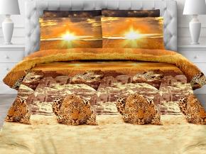 "КПБ 2.0 бязь макси ""Унисон"" (70х70) рис. 11876-1/11877 Африканский леопард"
