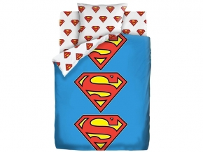 "КПБ 1.5 поплин (70*70) ""Супермен"" Neon Лого Супермен"