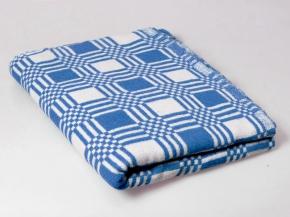 Одеяло хлопковое 170*200 клетка синий