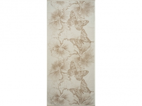 6с102.511ж2 Бабочки и цветы Полотенце махровое 67х150см