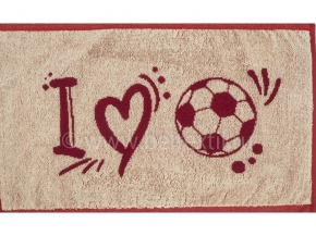 6с105.413ж1 Я люблю футбол Салфетка махровая 50х30см