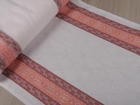Холст полотенечный арт.17с-12ЯК п/лен пестроткань рис. Ажурный оранжевый 5,0 2,2, 50см
