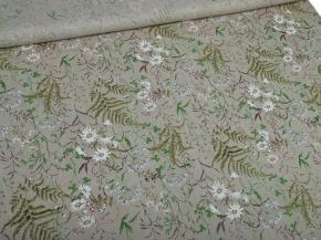 Ткань декоративная арт 3-21 п/лен кислованный рис. Льняное лето, 150см