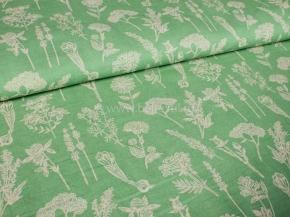 Ткань интерьерная арт 146040 п/лен п/вар набивной рис 19-06/5 Летний пейзаж, 150см