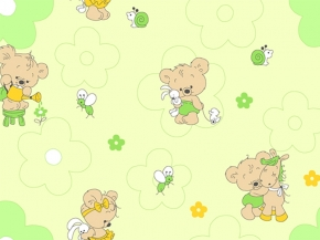 Фланель набивная детская рис. 5889/2 Мишки-малышки, 90 см