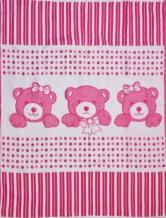 Одеяло хлопковое 90*100 жаккард 19/1 цвет розовый