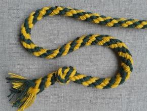 ШХ8-007-4/6 Шнур, D-7мм, х/б 100%, жёлтый/зеленый