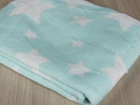 Одеяло хлопковое 100*140 жаккард  цв. мята