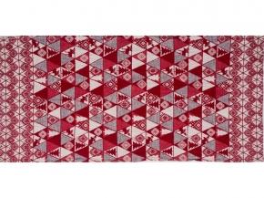 """17с356-ШР/у/рул. 56*110  полотенце """"Лоси"""" цв. 1 красный"""