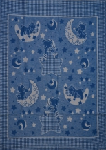 Одеяло хлопковое 100*140 жаккард Эконом цвет синий