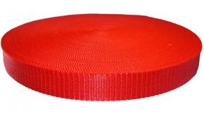 Стропа 30мм (пл.17,5гр) красный*148 (рул.100м)