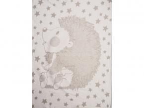Одеяло хлопковое 100*140 жаккард  цв. серый