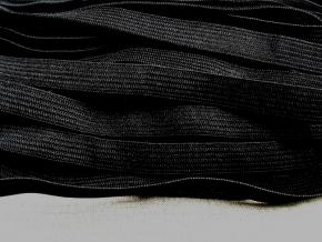 Резинка вязаная 10мм, черный (рул.100м)