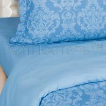 Поплин гладкокрашеный голубой компаньон рисунок  9876-2 Византия ширина 220см