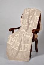 Одеяло п/шерсть 50% 140-205 жаккард цвет бежевый