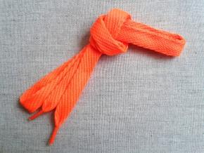 Шнурки L120см, ш.15мм, ярко-оранжевый