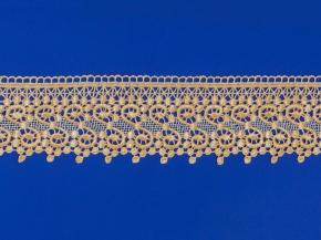 Кружево гипюр Ajur HX 34849-J/ш.7см, gold (рул.29,2м)