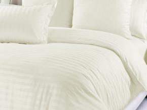 Сатин-страйп гладкокрашеный цвет сливочный, 240см