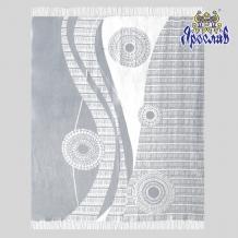 Плед хлопковый 170*200 жаккард 31/31 цвет белый с серым