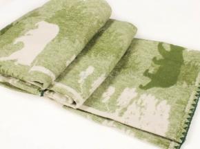 """Одеяло хлопковое 170*205 жаккард  5 """"Лес"""" цв зеленый"""