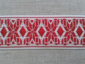 15С3884-Г50 ЛЕНТА ОТДЕЛОЧНАЯ белый с красным 37мм