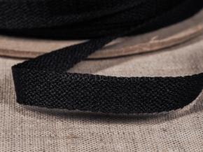 06С3317-Г50 (рис.4037) ЛЕНТА ПРИКЛАДНАЯ (вешалочная) 9мм черный (рул.100м)