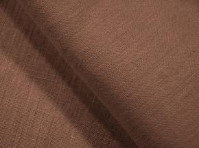 Ткань костюмная 176003 лен гладкокрашеный каландр цвет Шоколадное мерцание 1583, ширина 150см