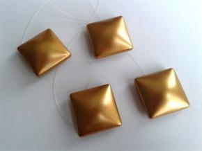 Магнит Квадрат-01А на леске золото (уп.2шт)