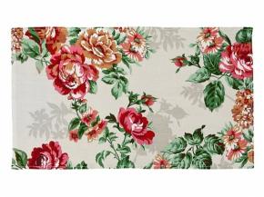 Рогожка набивная О17 рисунок 8121/1  Розалия  красный  ширина 150 см