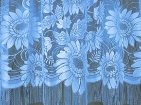 22С14-Г10 рис. 3018 занавеска 250*250 цв. голубой