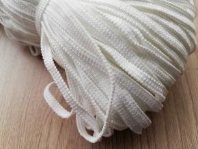 .4мм. Резинка вязаная 4мм, белая (рул.50м) арт.60454