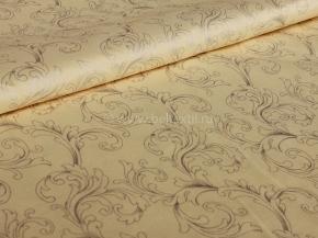 Ткань набивная Глосс-сатин цв. Monogram on beige, 220см