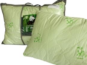 Подушка тик полиэфирный/ 2-х  камерная/ стежка/бамбук 50*70
