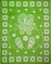 Одеяло п/шерсть 70% 100*140 жаккард цвет зеленый