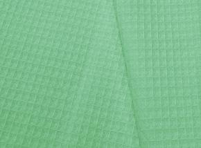 15с169/150 Вафельное полотно гл/кр крупная клетка 7*7 вес-230г/м2~9  цв. фисташка, 150см