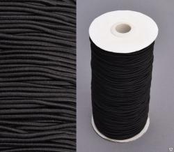 Шнур шляпный 2,5 мм черный (рул.100 м)