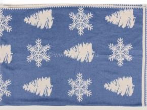 """Одеяло хлопковое 140*205 жаккард """"Снежинка"""" 11 цв.синий"""